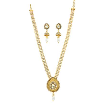 11831 Antique Long Necklace with gold plating