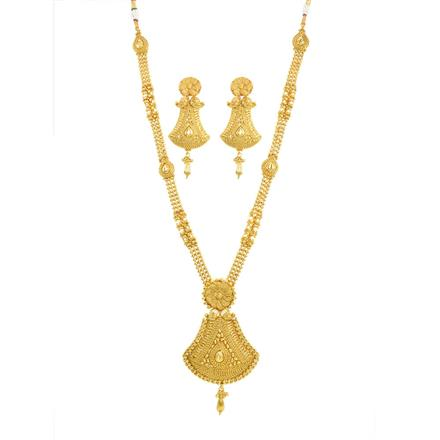 11832 Antique Long Necklace with gold plating