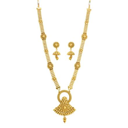 11834 Antique Long Necklace with gold plating