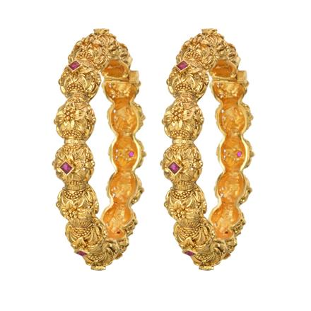 11857 Antique Openable Bangles with gold plating