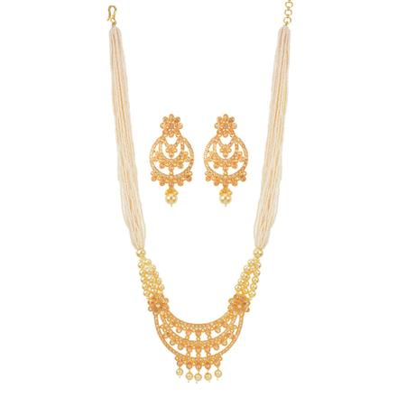 11858 Antique Mala Pendant Set with gold plating