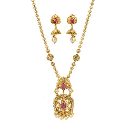 11860 Antique Mala Pendant Set with gold plating