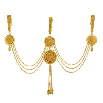 11862 Antique Triple Jhuda with gold plating