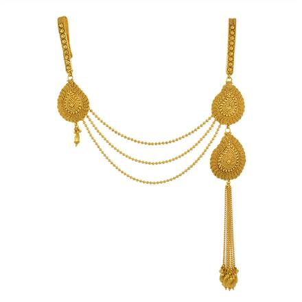 11866 Antique Double Jhuda with gold plating