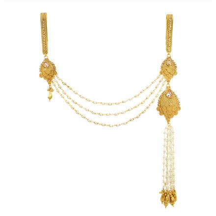 11868 Antique Double Jhuda with gold plating