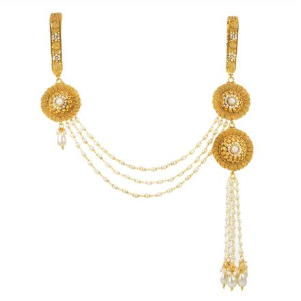 11870 Antique Double Jhuda with gold plating
