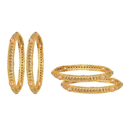 11873 Antique Classic Bangles with gold plating
