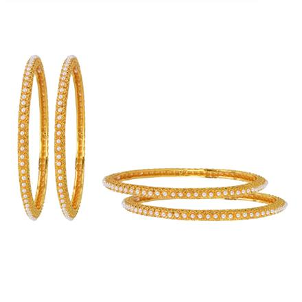 11874 Antique Classic Bangles with gold plating