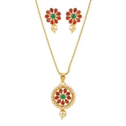 11876 Antique Delicate Pendant Set with gold plating