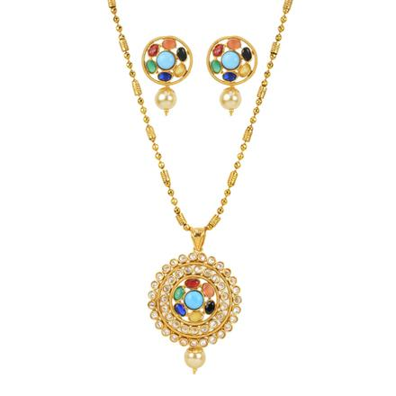 11877 Antique Classic Pendant Set with gold plating