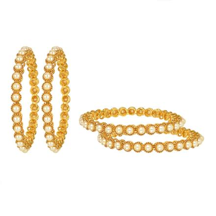 11903 Antique Classic Bangles with gold plating