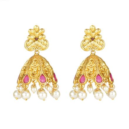 11905 Antique Jhumki with gold plating
