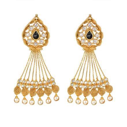 11906 Antique Long Earring with gold plating