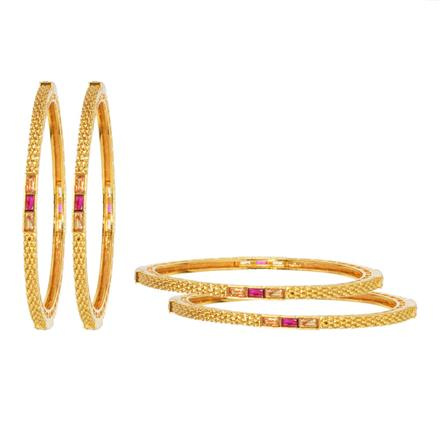 11907 Antique Classic Bangles with gold plating