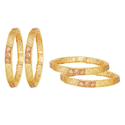 11908 Antique Classic Bangles with gold plating