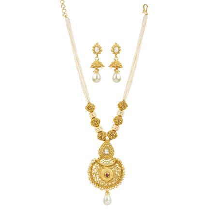 11909 Antique Mala Pendant Set with gold plating