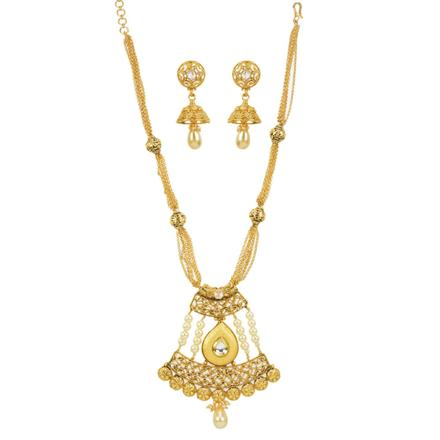 11910 Antique Mala Pendant Set with gold plating