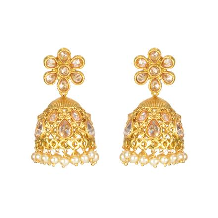 11911 Antique Jhumki with gold plating