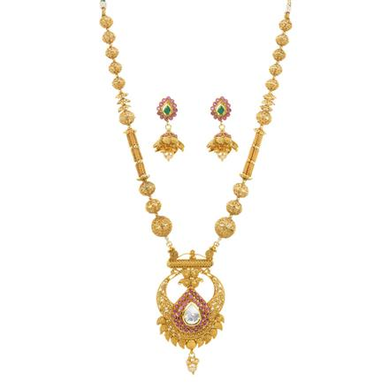 11913 Antique Mala Pendant Set with gold plating