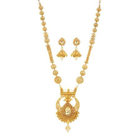 11914 Antique Mala Pendant Set with gold plating