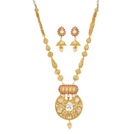 11915 Antique Mala Pendant Set with gold plating