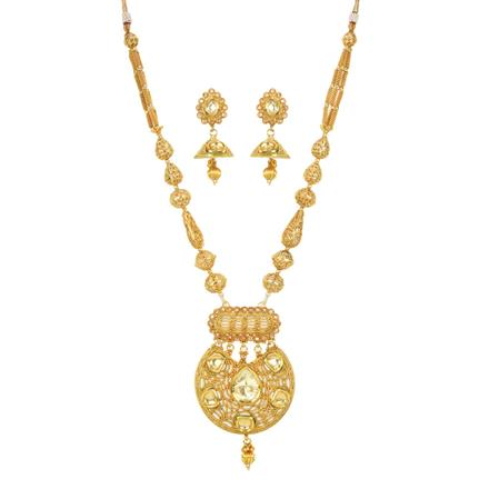 11916 Antique Mala Pendant Set with gold plating