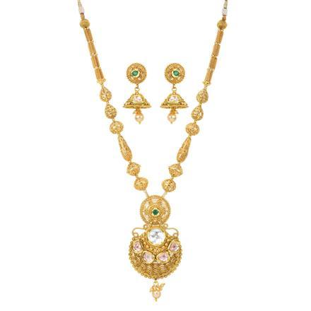 11918 Antique Mala Pendant Set with gold plating