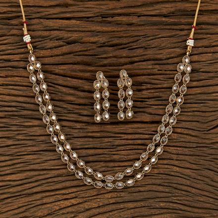 11938 Antique Delicate Necklace With Mehndi Plating