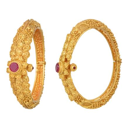 11940 Antique Openable Bangles with gold plating