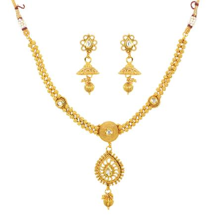 11941 Antique Delicate Necklace with gold plating