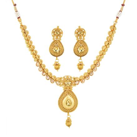 11942 Antique Delicate Necklace with gold plating