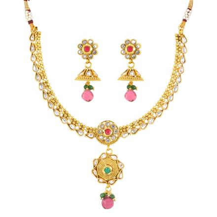 11943 Antique Delicate Necklace with gold plating