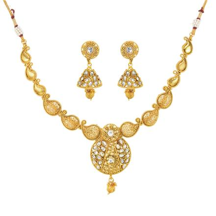 11944 Antique Classic Necklace with gold plating