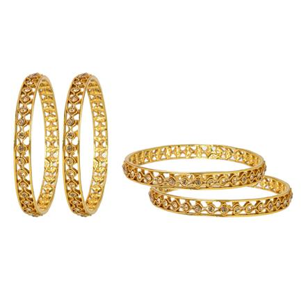 11953 Antique Classic Bangles with gold plating