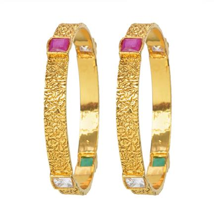 11955 Antique Classic Bangles with gold plating