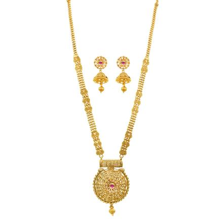 11956 Antique Long Necklace with gold plating