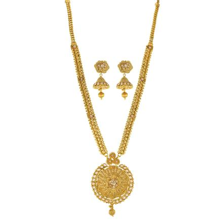 11957 Antique Long Necklace with gold plating