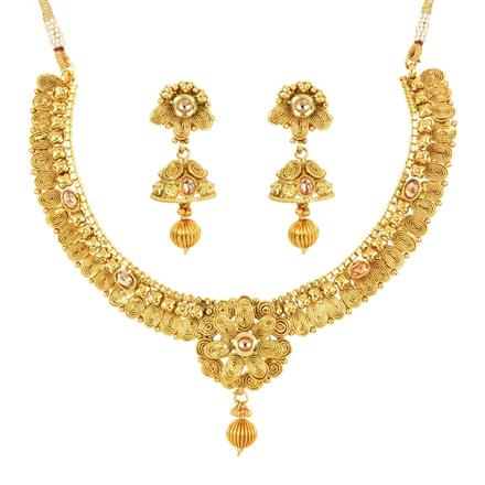 11958 Antique Classic Necklace with gold plating