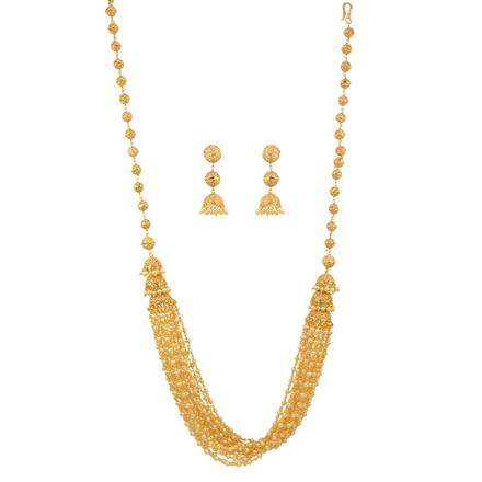 11960 Antique Mala Necklace with gold plating