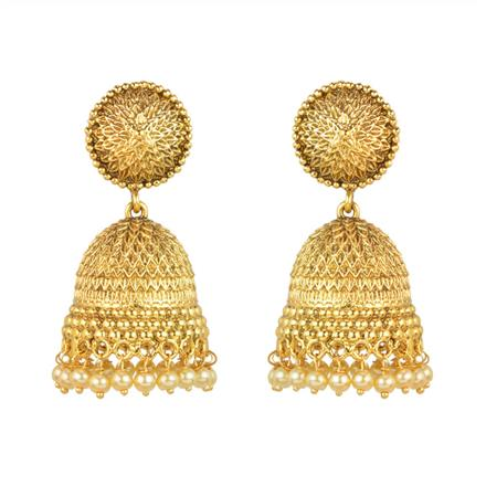 11968 Antique Jhumki with gold plating