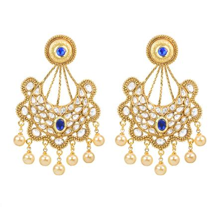 11970 Antique Chand Earring with gold plating