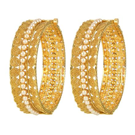 11975 Antique Openable Bangles with gold plating