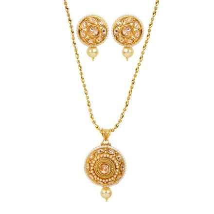 11980 Antique Classic Pendant Set with gold plating
