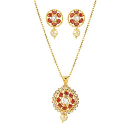 11981 Antique Delicate Pendant Set with gold plating