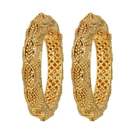 11982 Antique Plain Gold Bangles