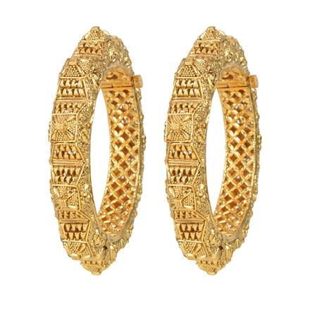 11983 Antique Plain Gold Bangles