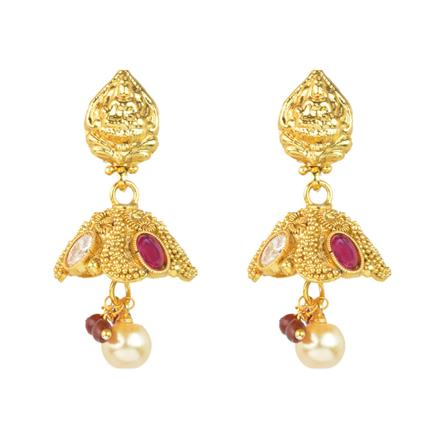 11985 Antique Temple Earring with gold plating