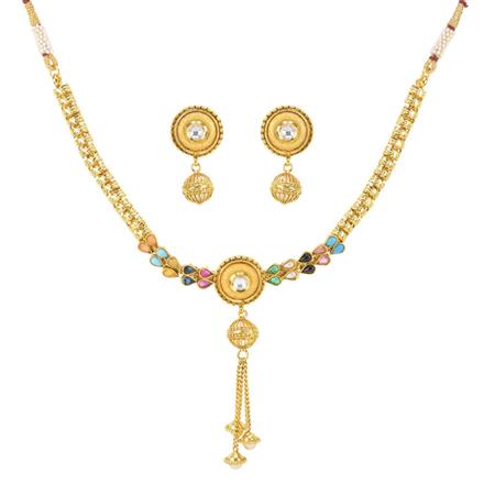 11986 Antique Delicate Necklace with gold plating