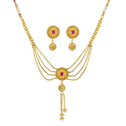 11987 Antique Delicate Necklace with gold plating
