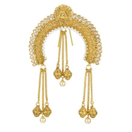 11990 Antique Classic Hair Brooch with gold plating